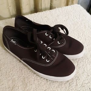 Keds Brown Canvas Sneakers Sz 5